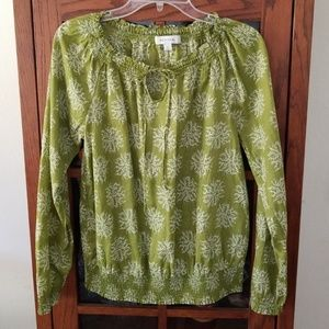 MERONA long sleeve printed blouse